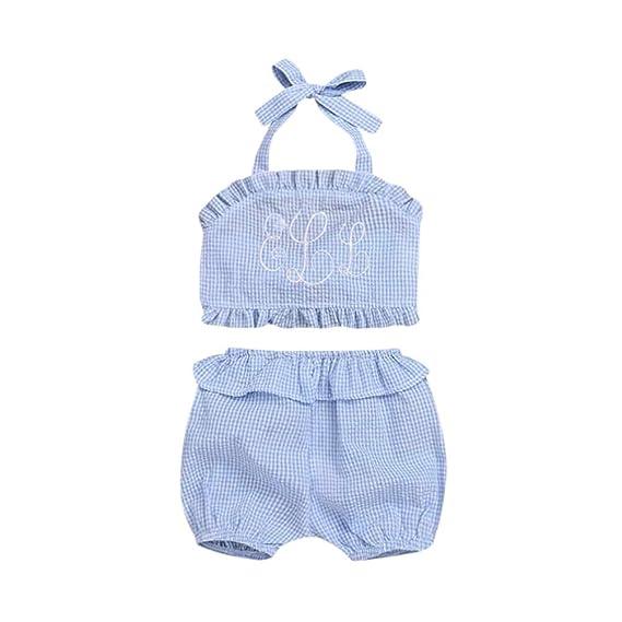 Logobeing Ropa Bebe Niña Verano Bebés Recién Nacidos Sin Respaldo ...
