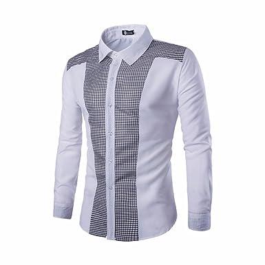 Modaworld _Camisas Hombre, Trajes Casuales de Manga Larga ...