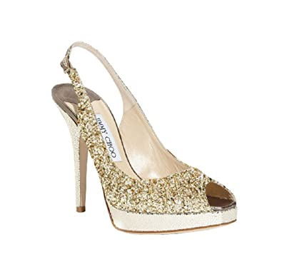 1277cc9c818 Amazon.com | JIMMY CHOO Nova Glitter Slingback Pumps | Pumps