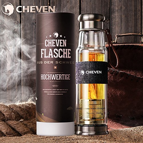 CHEVEN 13ozDouble Borosilicate Spill proof StrainerStylish product image