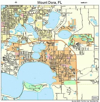 Map Of Mount Dora Florida Amazon.com: Large Street & Road Map of Mount Dora, Florida FL