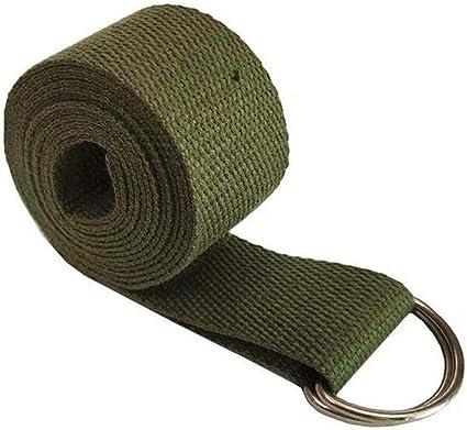 Atommy Cinturón de Yoga, Correa de Yoga Correa de Estiramiento de algodón Duradera con Hebilla de Anillo en D Ajustable de Metal Verde: Amazon.es: Deportes y aire libre