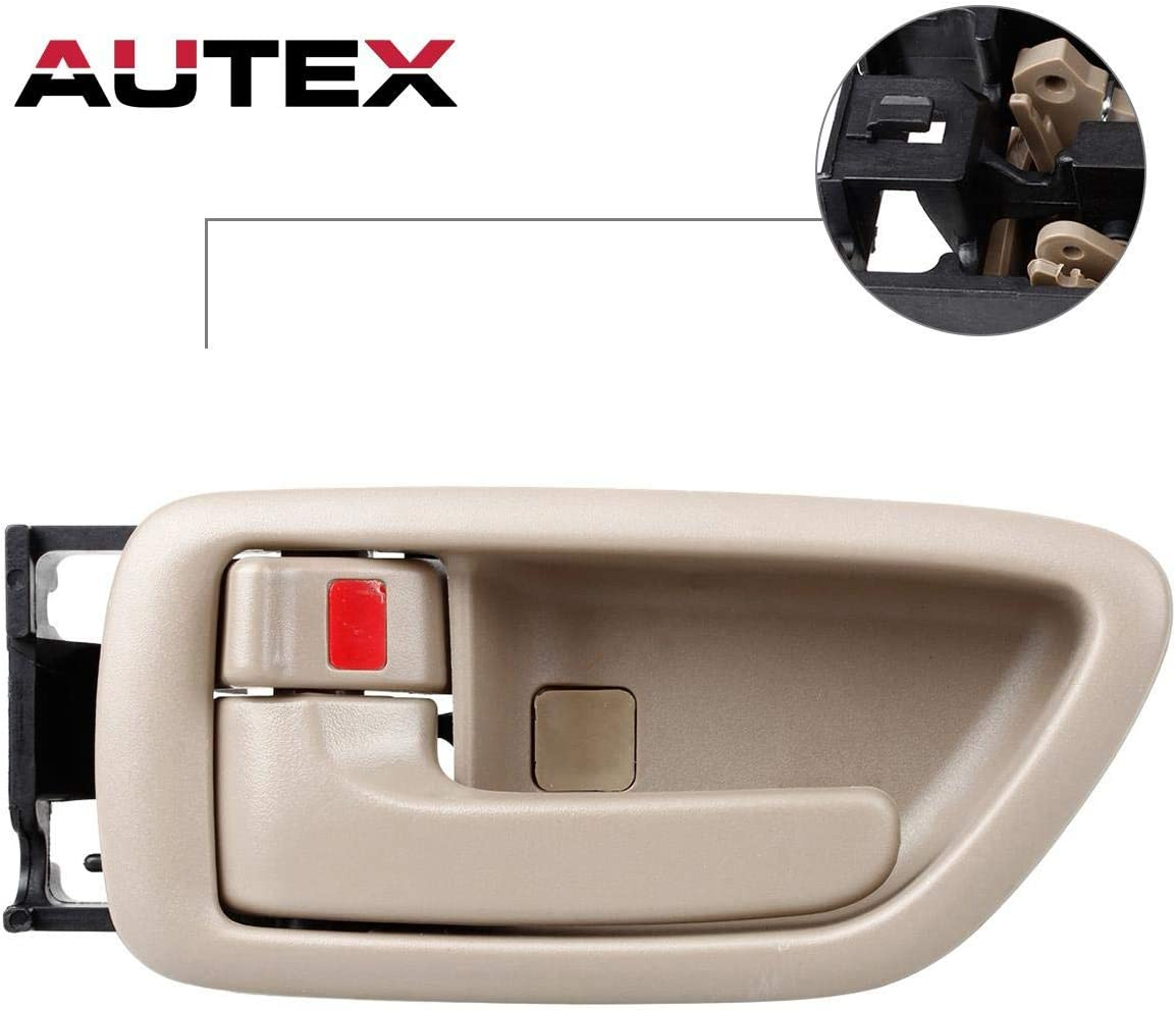 Crew Cab ONLY Eynpire 8088 Interior Inside Left Driver Side /& Right Passenger Side Set of 4 Door Handle Beige For 2001-2007 Toyota Sequoia; 2004-2006 Toyota Tundra