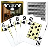 Copag Poker Size Jumbo Index Texas Holdem Playing Cards (Single Black Deck)