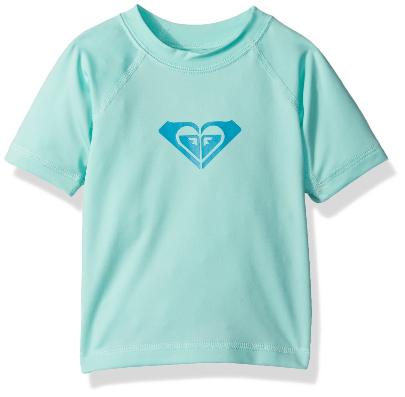 Roxy Baby Girls' Whole Hearted Short Sleeve Infant Rashguard, Beach Glass, 6M by Roxy