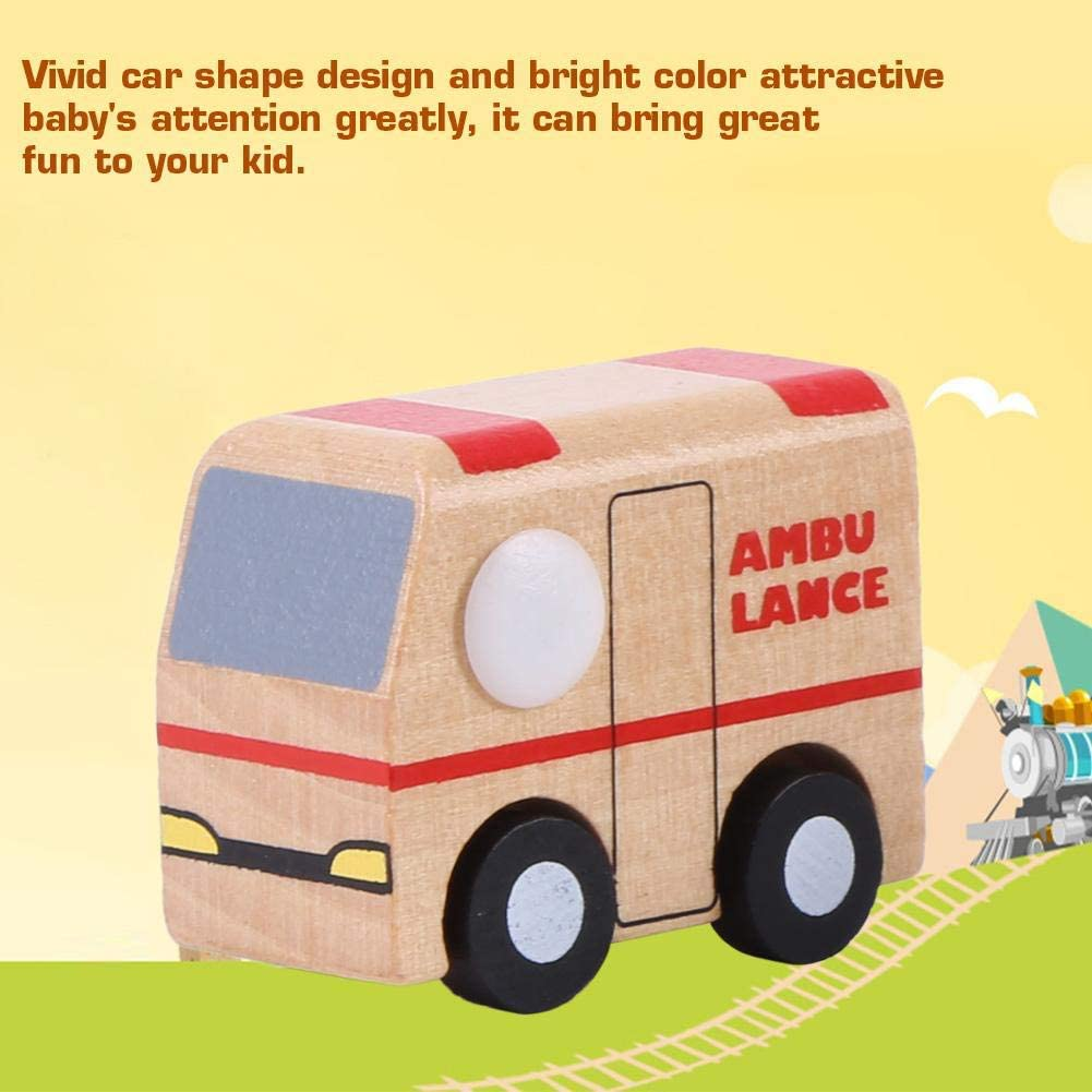 Zerodis 12 Pack de veh/ículos de Madera para beb/és y ni/ños de Dibujos Animados para ni/ños Coche de Juguete Aprendizaje temprano Juguetes educativos para ni/ños Regalos para ni/ños