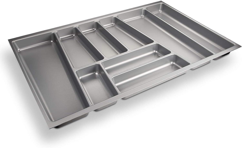 Sotech SO-Tech® Cubertero ORGA-Box® II para Cajón de Nobilia 80 cm (Cubertero: 462 x 705 mm) Color Gris Argentado