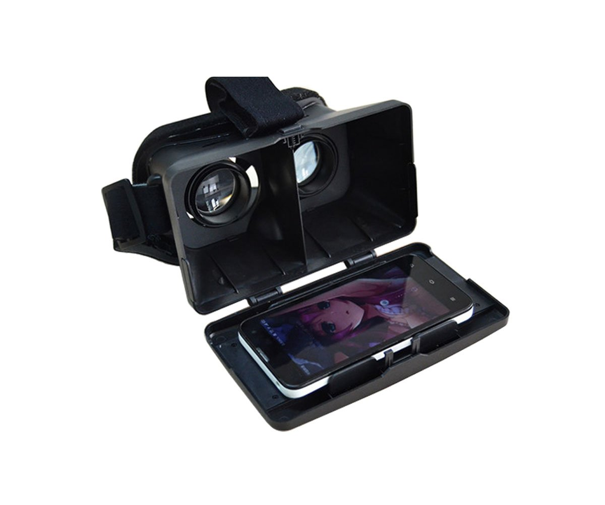 Plastic Version Google Cardboard 3D VR Virtual Reality Glasses Head Mount 3D Video Glasses by EasyLife185