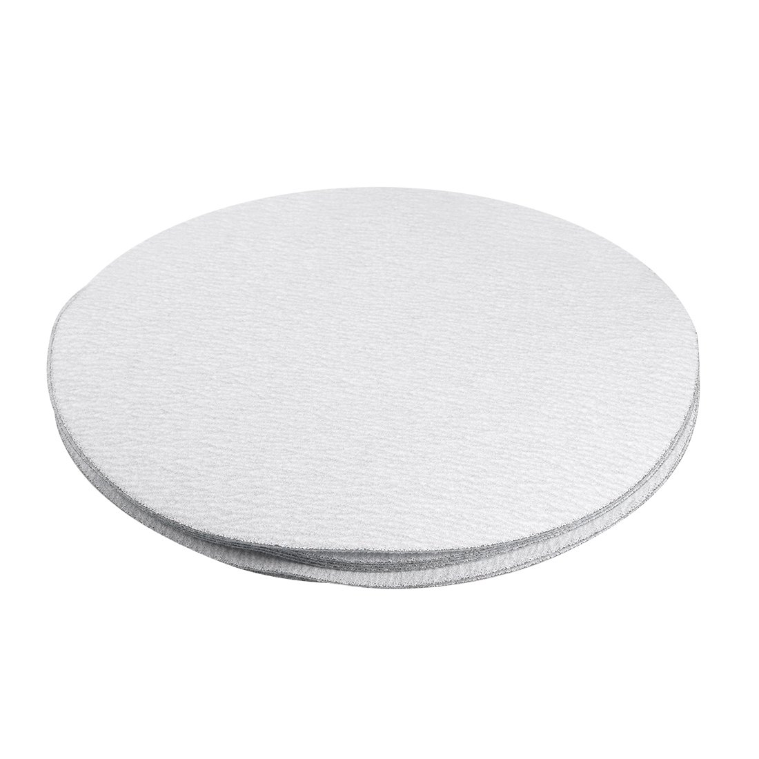 uxcell 50 Pcs 5-Inch Aluminum Oxide White Dry Hook and Loop Sanding Discs Flocking Sandpaper 80 Grit