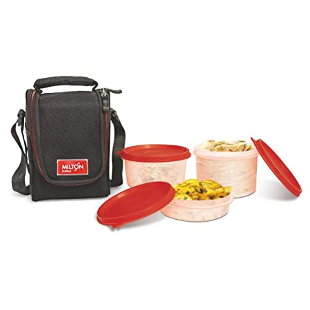 Milton Full Meal 3 Containers Lunch Box   Black  EC SOF FST 0016_BLACK  Lunch Boxes