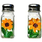 Atkinson Creations Hand Painted Yellow Sunflowers Salt And Pepper Shakers Set