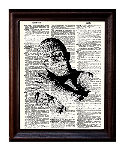 Mummy Dictionary Art Print Printed On Authentic Vintage Dictionary Book Page 8 x 10.5