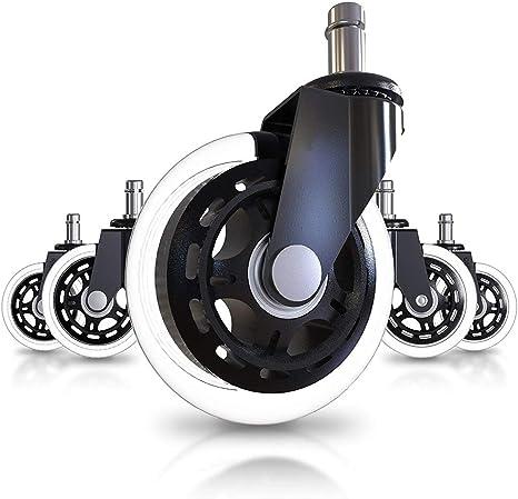 Capacit/é de Charge 250kg SLYPNOS roulettes Chaise Bureau roulettes Replacement pour Chaise de Bureau roulettes Universelles roulettes Pivotantes