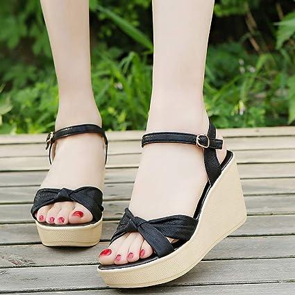 100de41deb466 Image Unavailable. Image not available for. Color: Hemlock Women Lady High Heel  Sandals Wedge ...