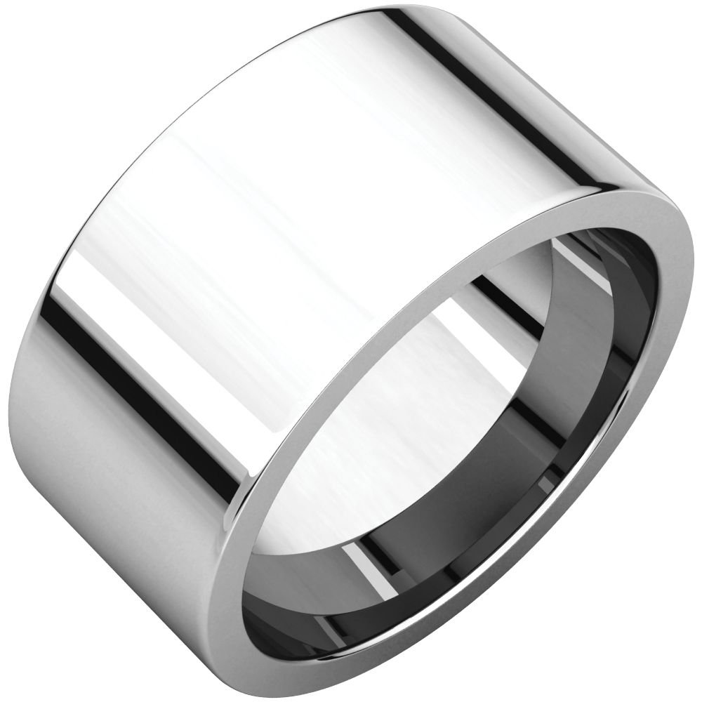 STU001- Palladium 10mm Flat Comfort-Fit Wedding Band