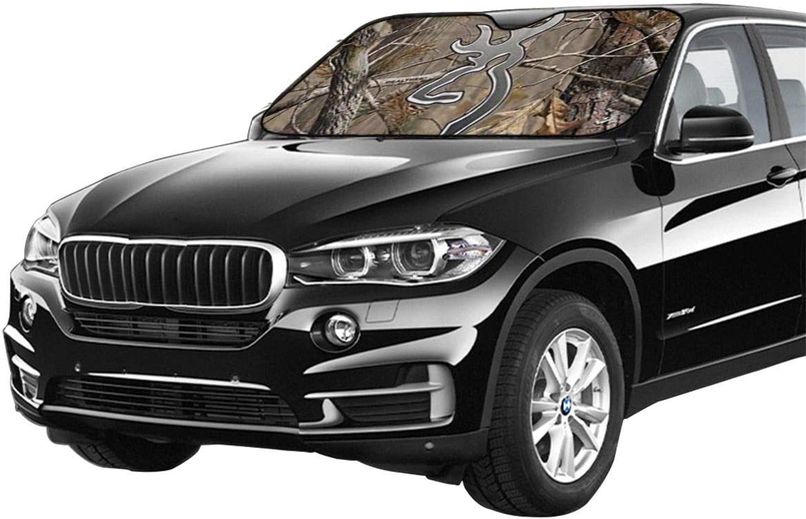 Camouflage Realtree Windshield Sun Shade,Car Window Shade Car Windshield Sun Shade Keep Vehicle Cool and Prevent Sun Exposure Car Sun Shade for Windshield Shabby Chic