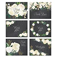 Premium Wedding Thank You Cards (Set of 24) All Occasion Assorted Bridal Shower Shabby Chic Chalkboard Note Card Variety Pack with Envelopes, Blank Inside Excellent Value by Digibuddha VTA0001B