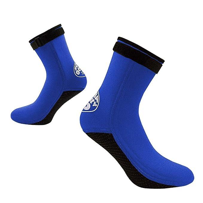 Lixada 3mm Neopreno Buceo Calcetines Botas Agua Zapatos Playa Botines Snorkel  Buceo Botas Surf para Hombres Mujeres  Amazon.es  Deportes y aire libre 4c5629b4d26