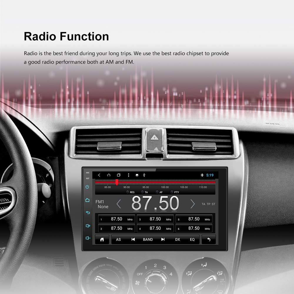 Android 8.0 Octa Core 2G DDR3 16G Car Radio Stereo 7 inch Capacitive Touch Screen High Definition 1024x600 GPS Navigation Bluetooth USB SD Player NAND Memory Flash SP-AT2018-2G16