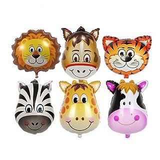 Palloncini gonfiabili per giocattoli, 6 pezzi, per bambini, compleanno, festa, decorazione 15x5x1cm multicolore