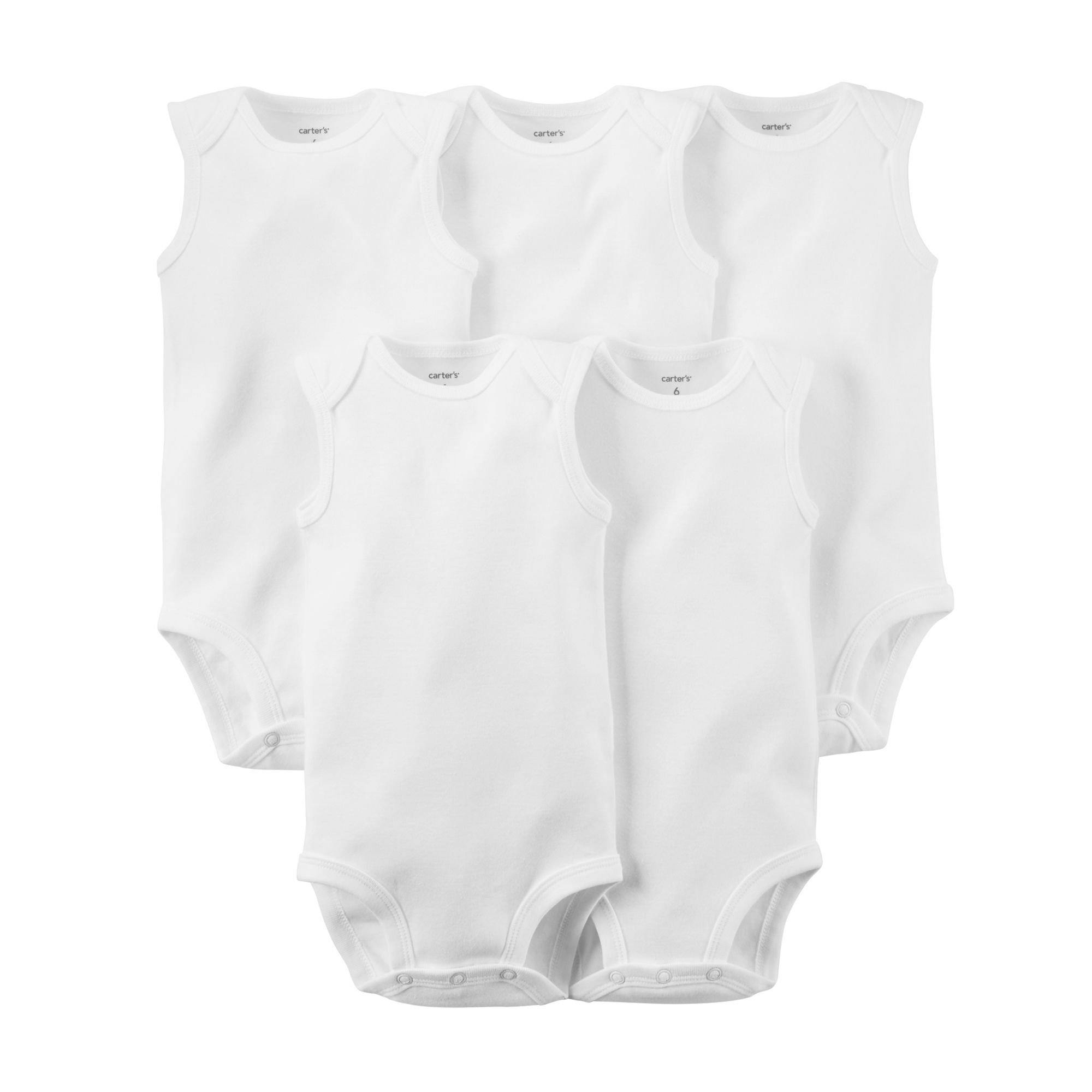 Carter's Unisex Baby 5-Pack Sleeveless Bodysuits