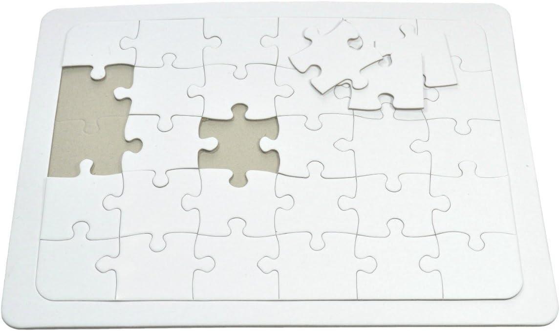 VBS Blanko-Puzzle 35 Teile 29cm x 21cm Weiß Karton