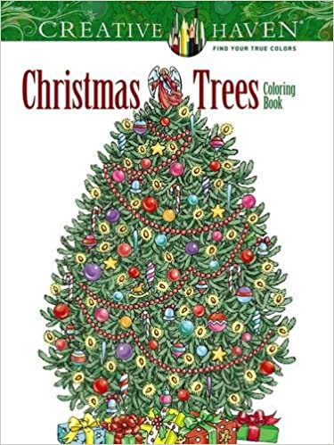 amazoncom creative haven christmas trees coloring book adult coloring 0800759803903 barbara lanza books