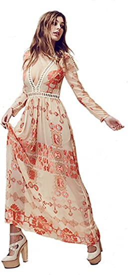 For Love Lemons Barcelona Maxi Dress Small Creme Amazon Ca Clothing Accessories