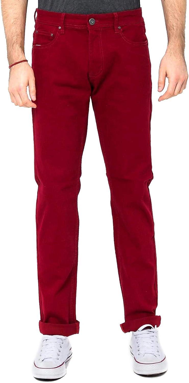 Burgundy RNZ PREMIUM Mens Color Skinny Pants WD1001