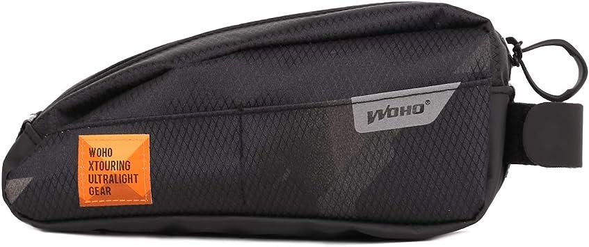 WOHO Xtouring Top Tube Bag Cyber-Camo Diamond Black