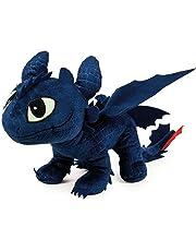 Drachenzähmen leicht gemacht - Dragons - Plüsch Figur Kuscheltier Drachen Ohnezahn Toothless 40x12x32 cm