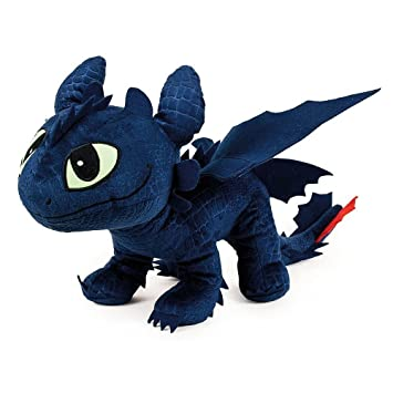Drachenzähmen Leicht Gemacht Dragons Plüsch Figur Kuscheltier Drachen Ohnezahn Toothless 40x12x32 Cm