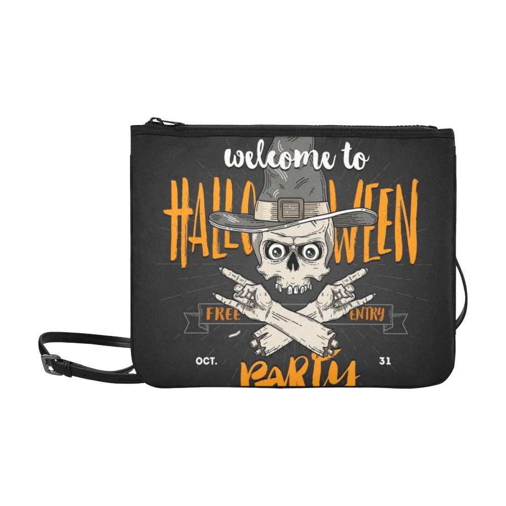 Cartel de Halloween Cabeza de Zombie Sombrero de bruja ...