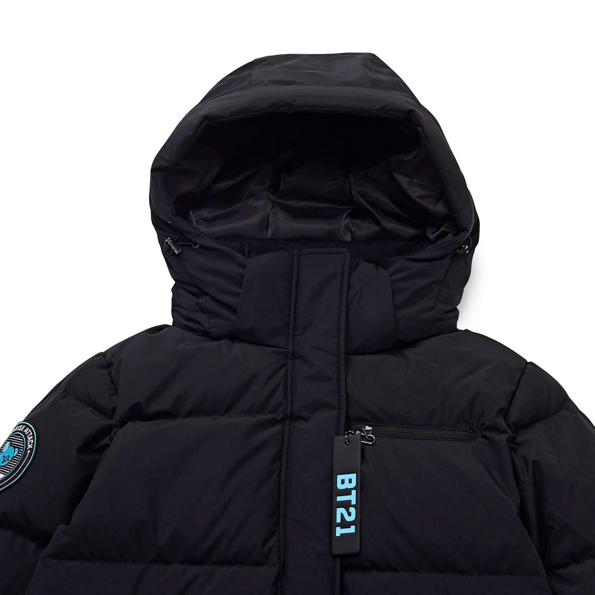 bae3be25f Amazon.com: BT21 Official Merchandise by Line Friends - Character Down  Parka Jacket Winter Coat: Clothing