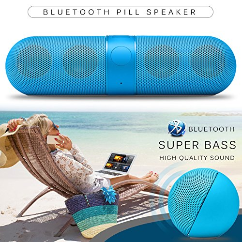 Nut Shop Wireless Bluetooth Portable FM Stereo Speaker For Smartphone Laptop Tablet](Crystal Bridge Camera Case)