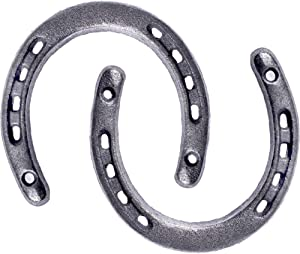 GGTYHAO Cast Iron Horseshoe,for Good Lucky, Durable Cast Iron Medium Horseshoe 5 Holes On Each Side for Wall Hung