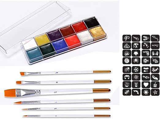 Pintura Facial,12 Pack Lavable Pinturas Corporales y Cara No ...