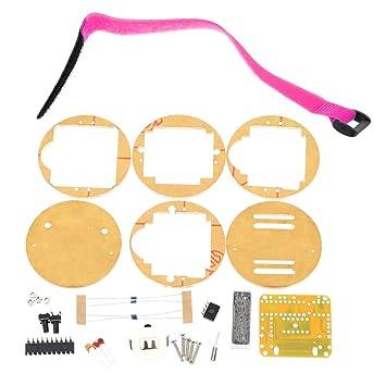 KKmoon SCM impresionante reloj LED transparente DIY LED tubo reloj de pulsera electr髇ico Reloj Digital DIY Kit: Amazon.es: Bricolaje y herramientas