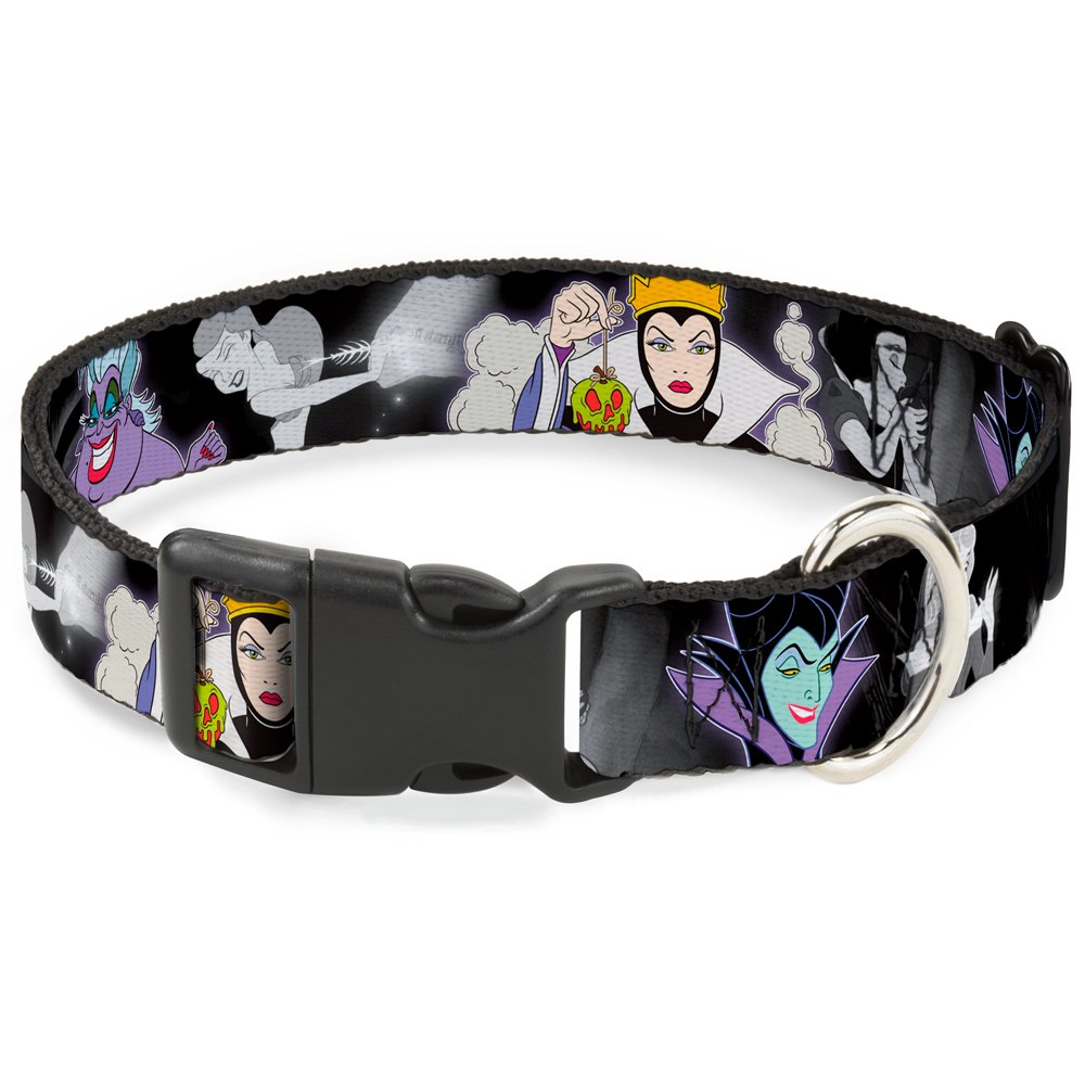 Buckle-Down Breakaway Cat Collar - Villains Hexing Princess' Scenes Color/Black/White - 1/2'' Wide - Fits 6-9'' Neck - Small