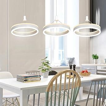 Einfache Ring Kronleuchter, SEESUNG Moderne Kreative Persönlichkeit LED  Drei Ring Kronleuchter, Esszimmer Leuchtet Wohnzimmer