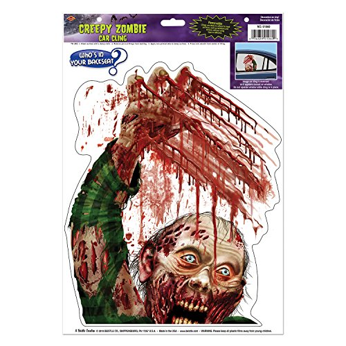 Beistle Zombie Car Cling Sheet, 12 by 17-Inch, Multicolor]()