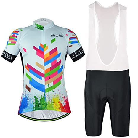 Uriah Cycling Jersey Bib Shorts Sets Reflective Short Sleeve Blue Autumn  Leaves Size S cd94fe9bd