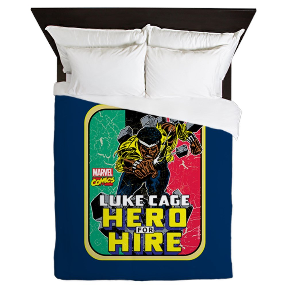 CafePress - Classic Luke Cage Wall Break - Queen Duvet Cover, Printed Comforter Cover, Unique Bedding, Microfiber