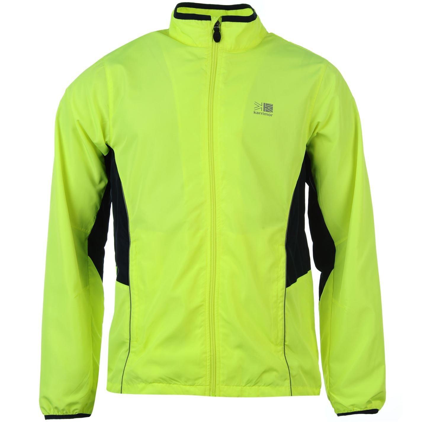 Karrimor Kids Boys High Viz Running Jacket Long Sleeve Zip Fastening Coat Top