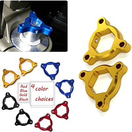 For Ducati 848 1098 1198 Streetfighter Blue 22mm CNC Fork Preload Adjusters Pair
