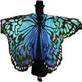 OVERDOSE Frauen 197 * 125CM Weiche Gewebe Schmetterlings Flügel Schal feenhafte Damen Nymphe Pixie Halloween Cosplay Weihnachten Cosplay Kostüm Zusatz