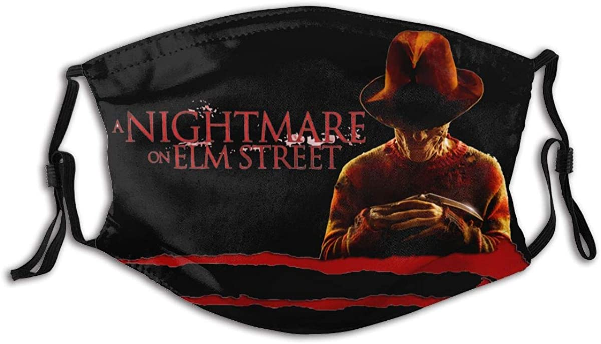 Nightmare On Elm Street Seaml Face Cover Mouth Cover-Dust & Uv Sun-Protection for Festivals and Outdoors Black