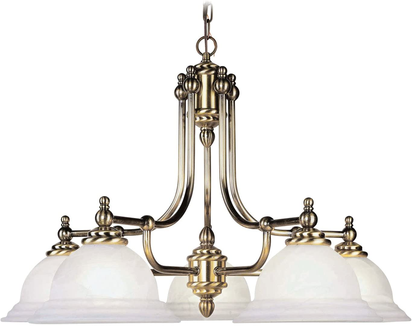 Livex Lighting 4255-01 North Port 5 Light Antique Brass Chandelier