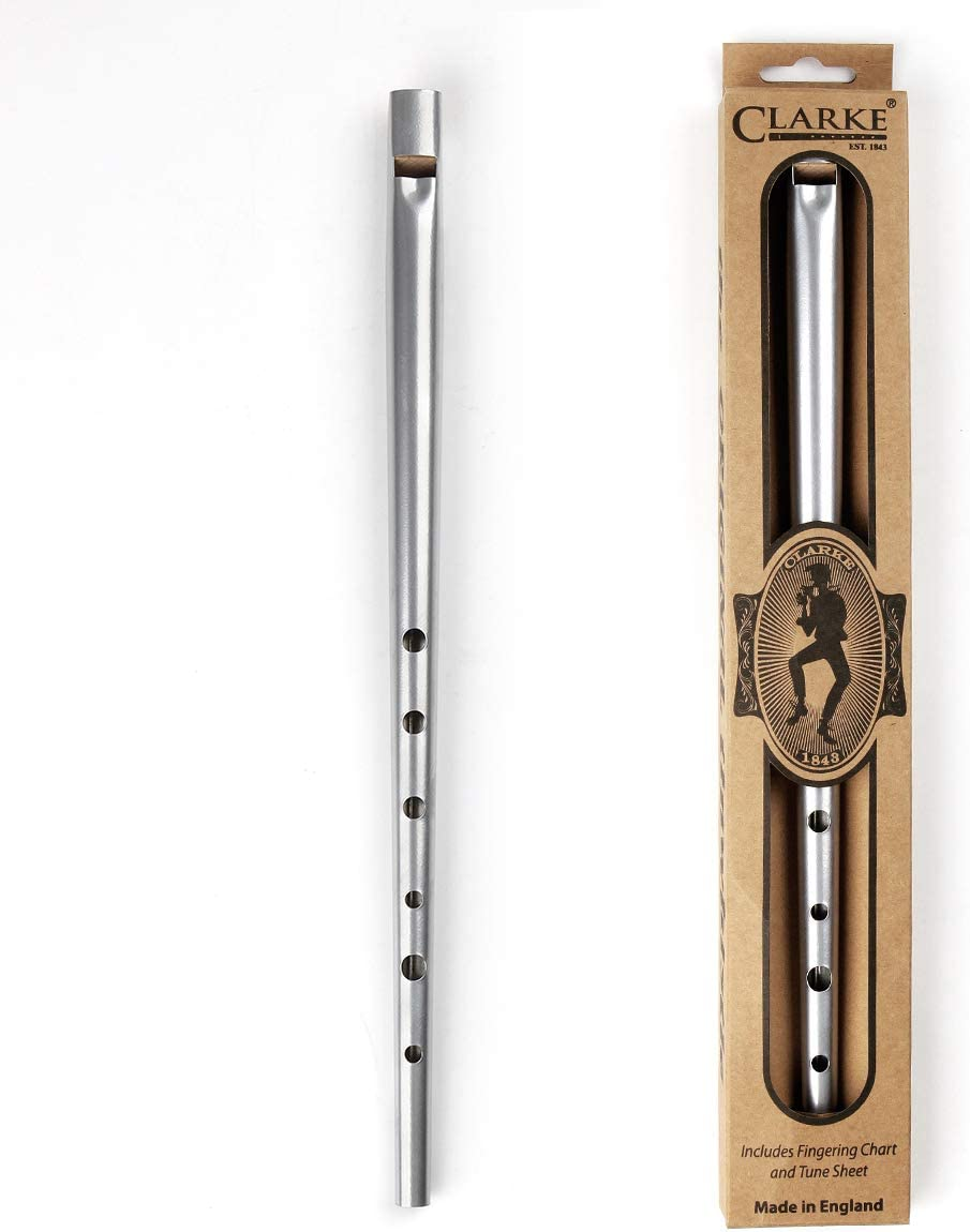 Irish Whistle Flute Tin Whistle Feadon 6 Holes In D//C Key Irish Flute Musical Instrument Color : Silver C