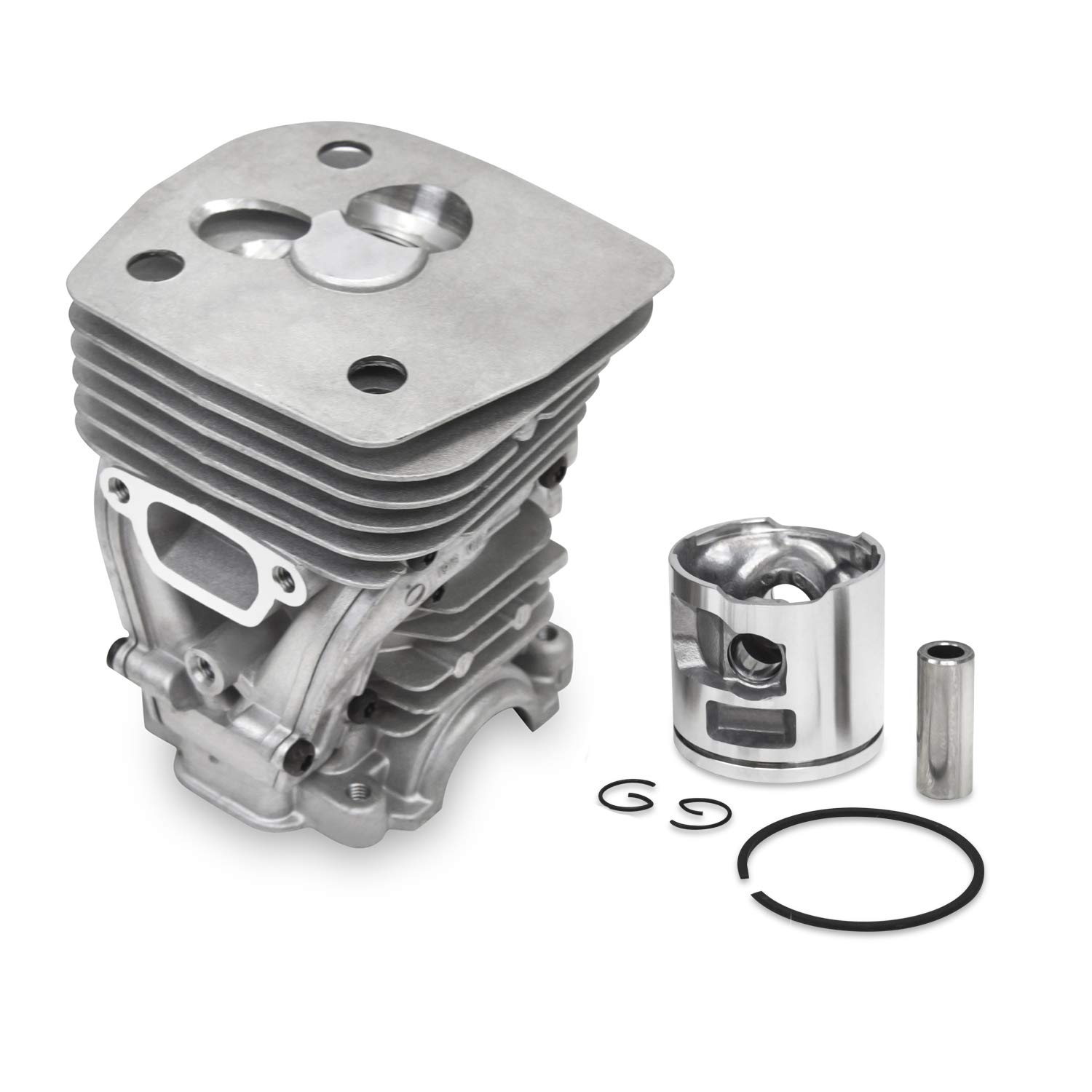 Everest Parts Supplies New Cylinder Head FITS Husqvarna 455 460 47mm Piston KIT Piston PIN Rings CIRCLIP by Everest